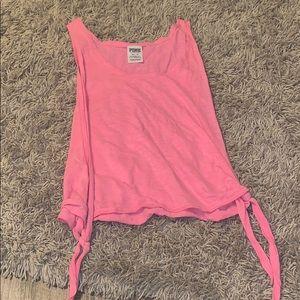 Victoria's Secret PINK tank top, neon pink.